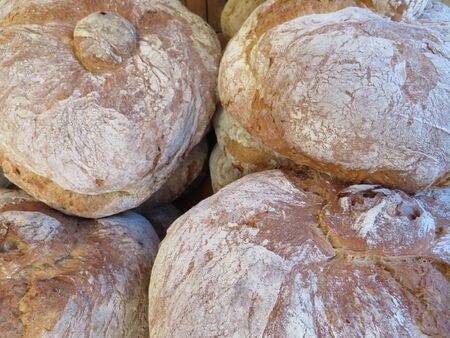 Beautiful picture of artisan bread prepared by hand