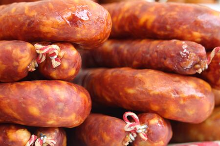 Sausage of extraordinary beautiful color and delicious taste