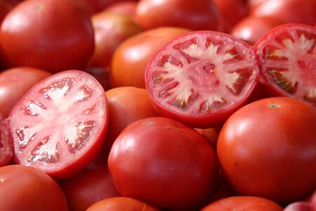 Tomatoes of extraordinary beautiful color and delicious taste