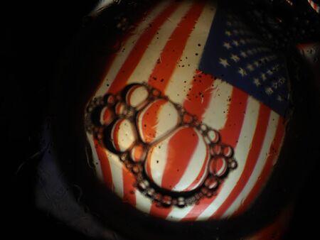 abstract flag America red white different stars 版權商用圖片