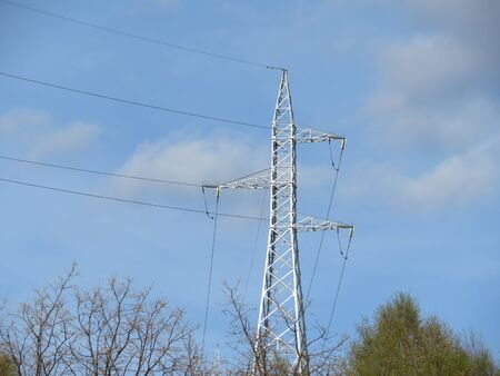 Lines of electrical wires that carry the energy to our homes