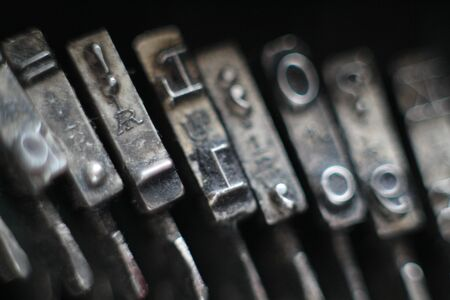 Beautiful old typewriter where everything was a mechanic Stock Photo