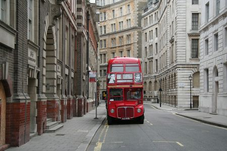 London Red Bus Stock Photo