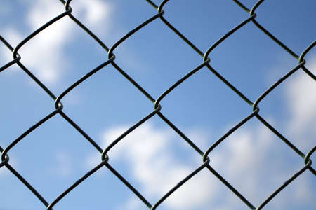 iron protection chain and blue sky Stock Photo - 1156456
