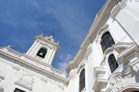 white church with deep blue sky Stock Photo - 1156472