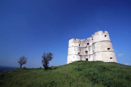 prespective: old castle in top of the hill