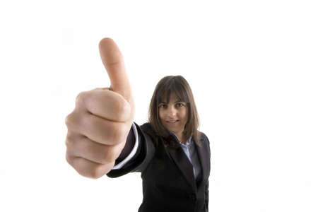 business woman with thumbs up Stock Photo - 1149735