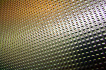 Abstract background made from mettalic door with orange tones Stock Photo