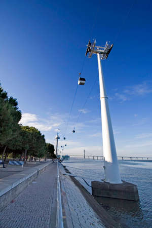 Enginener cable car structure in Lisbon - Portugal photo
