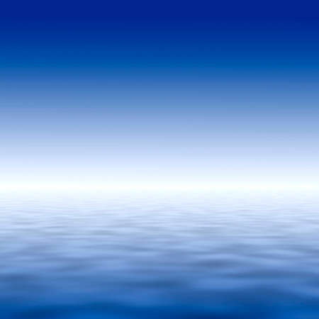 light reflex: abstract background illustration simulating clean sky and water Stock Photo