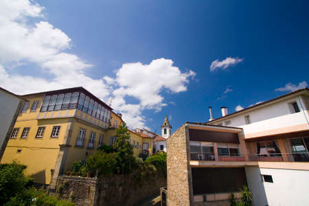 colorfull italian style villa in a sunny day with blue sky Stock Photo