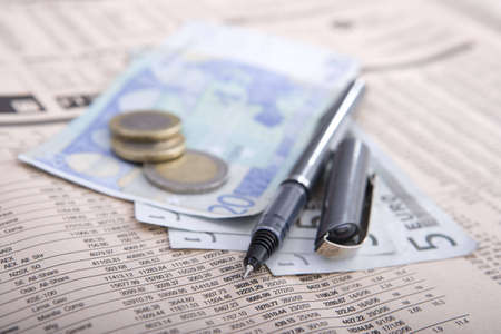 real money over financial newspaper stock market report