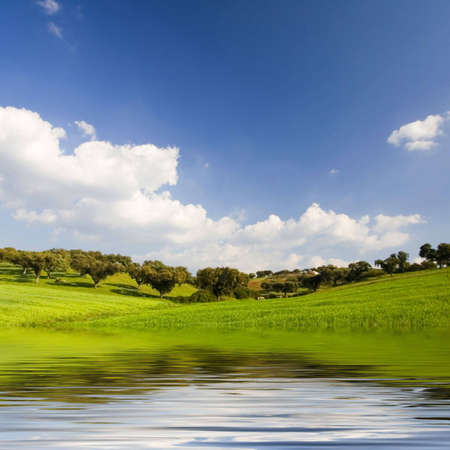 beautiful landscape with moutains and water Stock Photo - 2988825