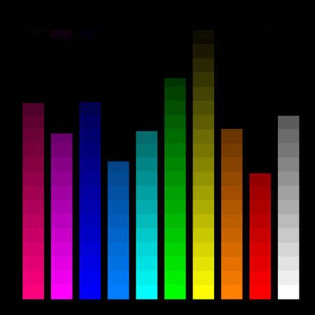 calibration: color bars for monitor calibration Stock Photo