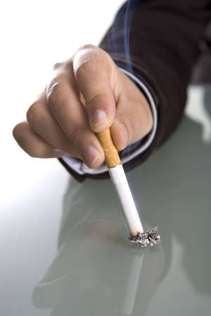 hand holding cigarette Stock Photo