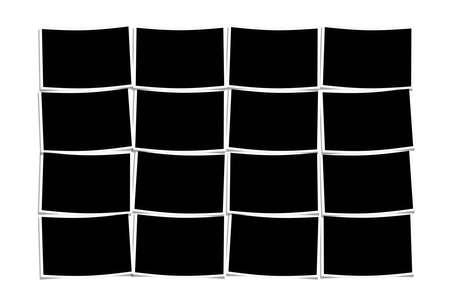 white polaroids: empty polaroids over white background Stock Photo