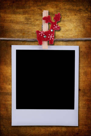 Photo frame over grunge background Stock Photo - 4006378