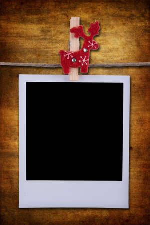 Photo frame over grunge background Stock Photo - 4006378