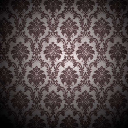 antique background: grunge retro wallpaper background - square format Stock Photo