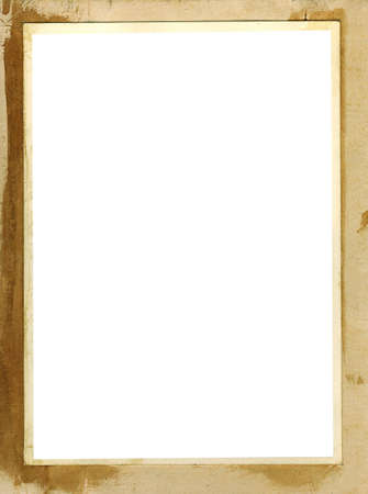 old photo frame grunge background - copyspace for your image or text Stock Photo - 4509932