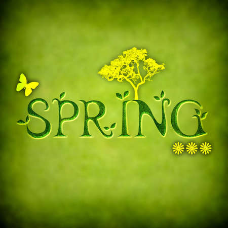 spring background illustration - square format Stock Illustration - 4601656