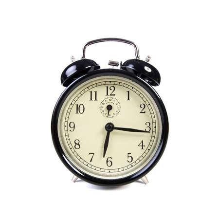 old vintage alarm clock isolated on white background Stock Photo - 4697860