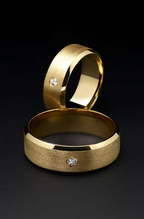 brilliants: wedding rings Stock Photo