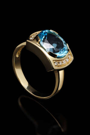 topaz: blue topaz ring
