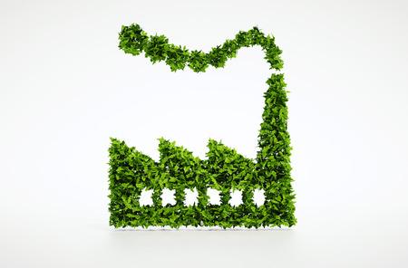 3 d レンダリング エコロジー産業のシンボル