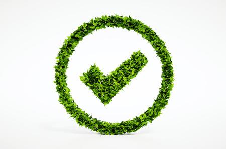 3D-Bild von eco ok Zeichen machen Standard-Bild - 30700827