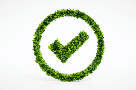 3d render image of eco ok sign
