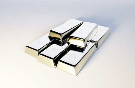 silver bars: 3d photo realistic image of silver bars