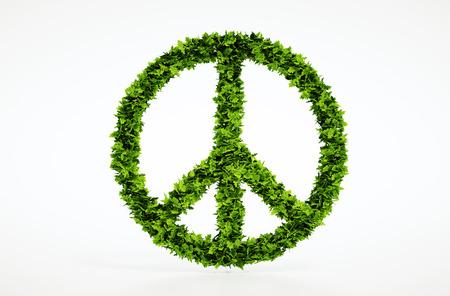 humanism: Isolated 3d s�mbolo de la paz con el fondo blanco Foto de archivo