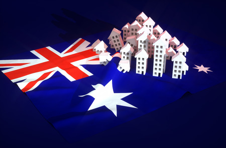 housing crisis: Illustration of australian real-estate development