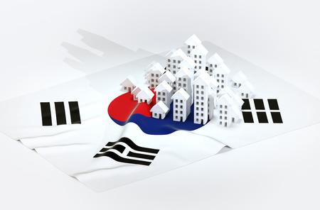 realestate: 3d render illustration of brazilian real-estate development