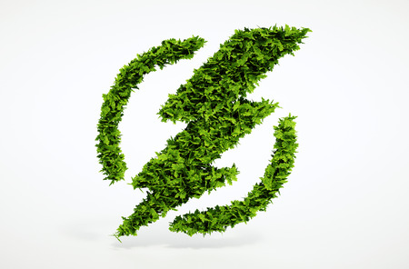 Isolated 3d render ecology flash symbol image with white background