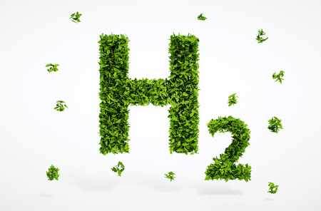hydrogen: Isolated 3d render alternative ecology hydrogen concept with white background