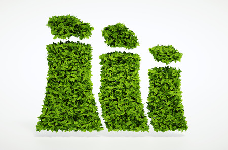 Isolated 3d render ecology sustainable energy concept with white background 免版税图像