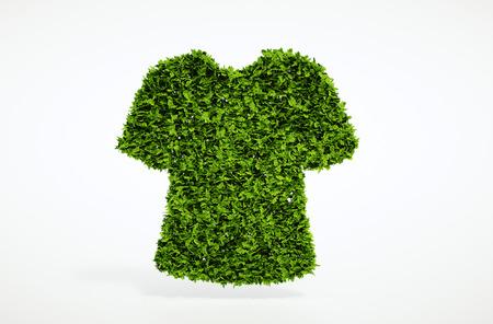 sustentabilidad: Isolated 3d ecolog�a ropa concepto con el fondo blanco Foto de archivo