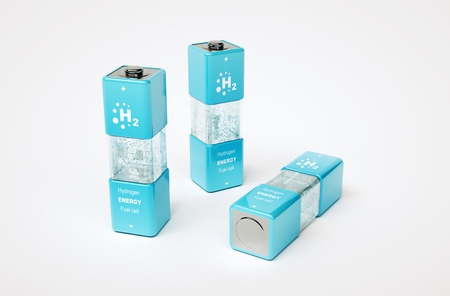 fuel cell: 3d render image of hydrogen energy fuel cell