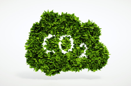 CO2 emissions: Isolated 3d render natural CO2 symbol with white background