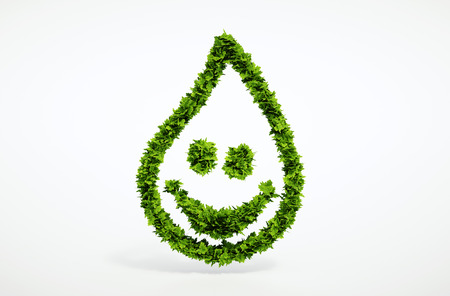 Isolated 3d render pure water symbol with white background 免版税图像