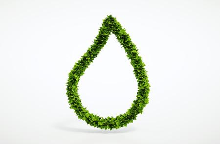 エコ ブランク水ドロップ シンボル - あなた自身のテキストの