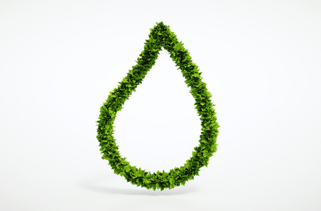 Eco blank water drop symbol - for your own text Banco de Imagens