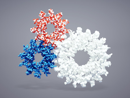 3d pharmaceutical cogwheel icon Stock Photo