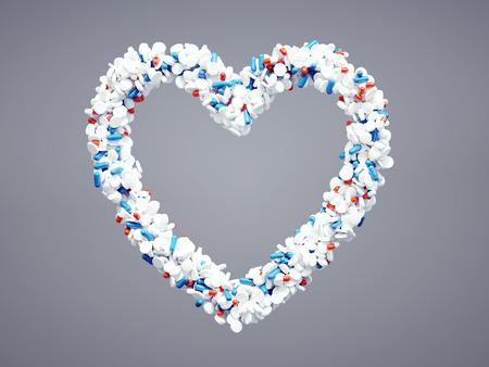 arrhythmias: 3d pharmaceutical heart icon