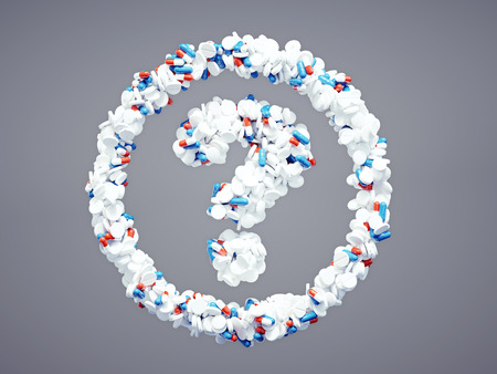 3d pharmaceutical question mark