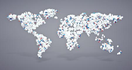 3d pharmaceutical world icon  Stock Photo