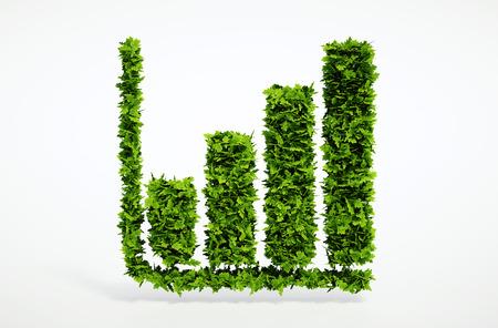 3 d 含まれているクリッピング パスと棒グラフを生態学。大きな高品質のエコロジー シンボルのセットの 1 つ。私の生態のセットを確認します。 写真素材