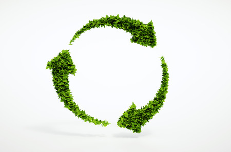 Eco sustainable development sign. Part of large set of high quality eco signs. Foto de archivo